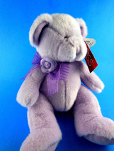 "Russ Berrie plush bear purple lavender 10"" BELLE Sweet Blossoms MWTags - $9.94"