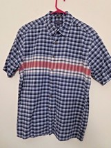 Club Room Men's Size L Striped Shirt Short Sleeve Multi-Color Excell. Co... - $10.29