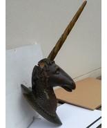 Imposante Unicorn wood sculpture carved Antique 1900 German Black Forest... - $1,200.00