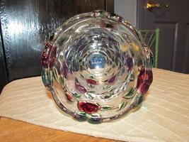 Vintage Celebrations Mikasa Crystal Rose Garden Floral Rose Heavy Vase 9... - $19.00