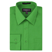 Ferrecci Italy Men's Green Dress Shirt Long Sleeve Slim Fit w/ Defect - XL image 1