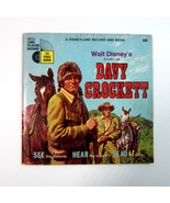 Vintage Disney Story of Davy Crockett Read Along Book & 33 1/3 LLP Record - $9.99