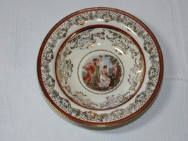 "N 22 K Gold Trim La Petite China 1 sauce/dessert bowl 5 3/8"" Victorian A... - $14.84"