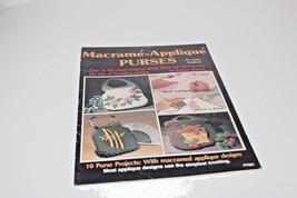 Macrame-Appliqué 19 Purses By Jackie Stephens Vintage 1979 Pattern Book - $10.39