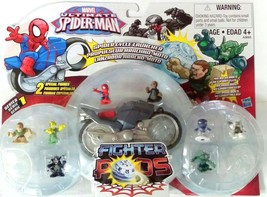 Marvel Ultimate Spiderman Spider Cycle Launcher Fighter Pods - $18.69