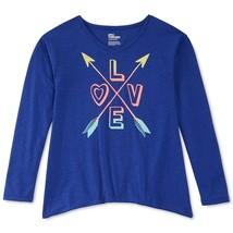 Epic Threads Girls' Love & Arrows T-Shirt, Midnight Lapis, Size L - $11.29