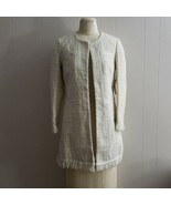 NWT Vertigo Paris Tweed Fringe Coat size XS $360 - $120.00