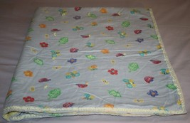 Handmade Butterfly Bee FLOWER Tied Quilt BABY Girls Blanket Cotton Ribbo... - $23.05