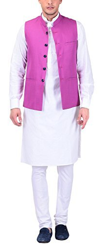 Primary image for Royal Men's Cotton Regular Fit Kurta Pyjama Set (kpj269-44_44, White, 44)