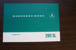 Mercedes 280 SL Owners Manual sales brochure top Supplement  Pagoda w113 - $44.54