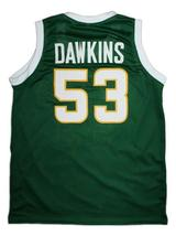 Darryl Dawkins Evans High School Basketball Jersey Sewn Green Any Size image 4