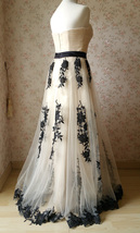 Ivory Strapless High Waist Bridesmaid Dress Embroidery Maxi Wedding Dresses 2018 image 3