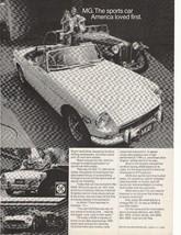 1972 MGB British Leyland Motors Advertisement - $16.00
