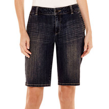 Liz Claiborne Bermuda Shorts Size 4 Medium Indigo Wash New - $16.99