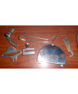 Necchi BU Parts In Case w/Wonder Wheel Adaptor Rods + SS Throat Plate - $25.00