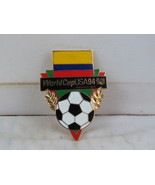 Team Colombia Soccer Pin - 1994 World Cup by Peter David - Flag and Ball - $15.00