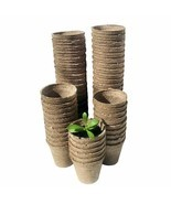Eco Friendly Gardening Pot Nursery Plant Fiber Material Pulp Seeding Cup... - £12.93 GBP