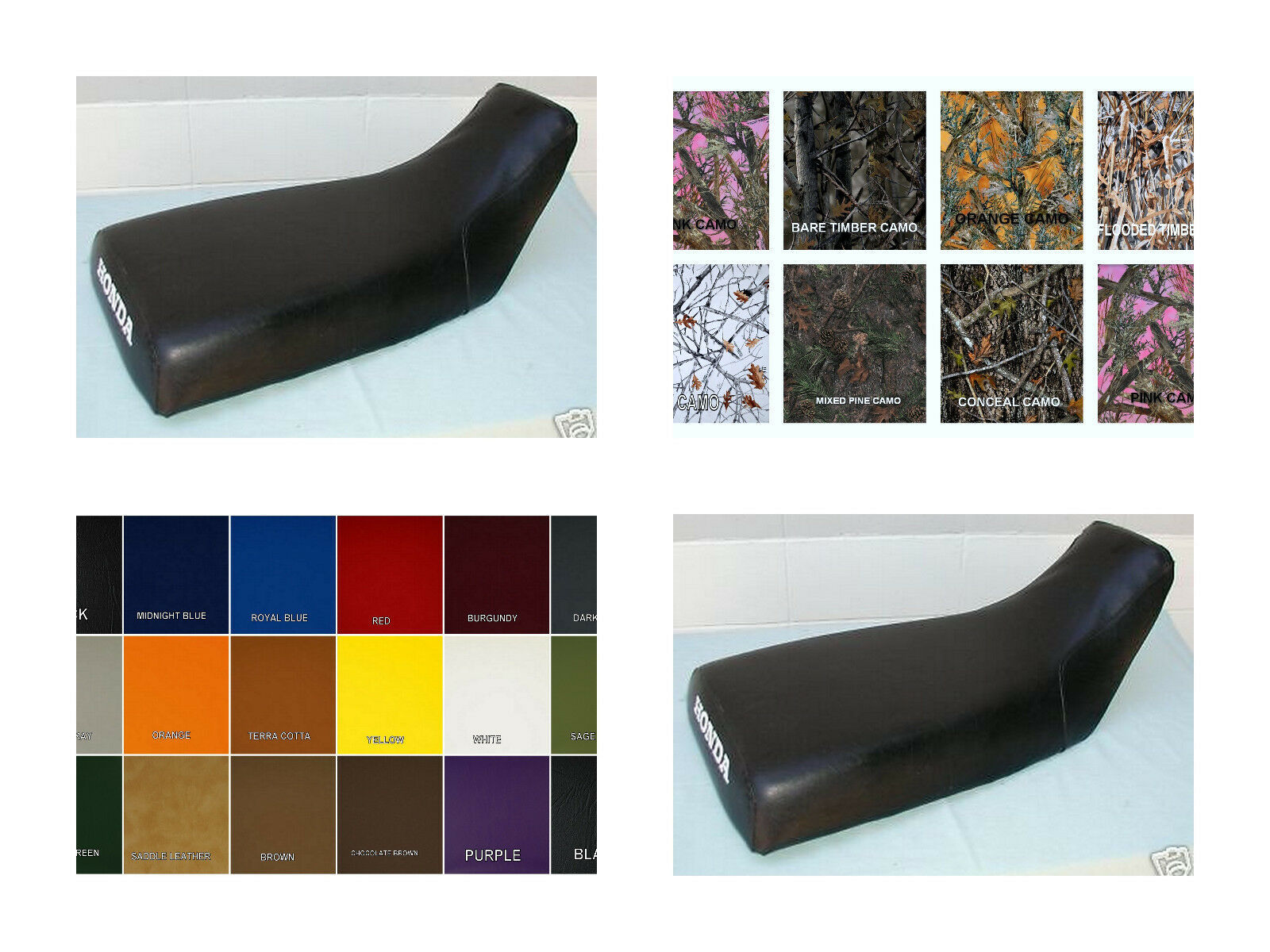 Primary image for HONDA ATC200S Seat Cover 1984 1985 1986 in BLACK, 2-tone or 25 COLORS (ST)