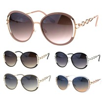 Womens Luxury Metal Chain Arm Round Diva Fashion Butterfly Sunglasses - $12.95