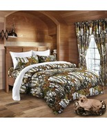 The Woods Camo Snow White 7 Piece King Size Comforter and Sheet Set - $95.00