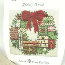 Holiday Wreath Cross Stitch Kit Laura J Perin Designs Christmas Sampler - $126.97