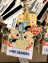 Disney Parks Mickey Minnie Mouse Character Metal Keychain I Love My Grandpa - $21.90