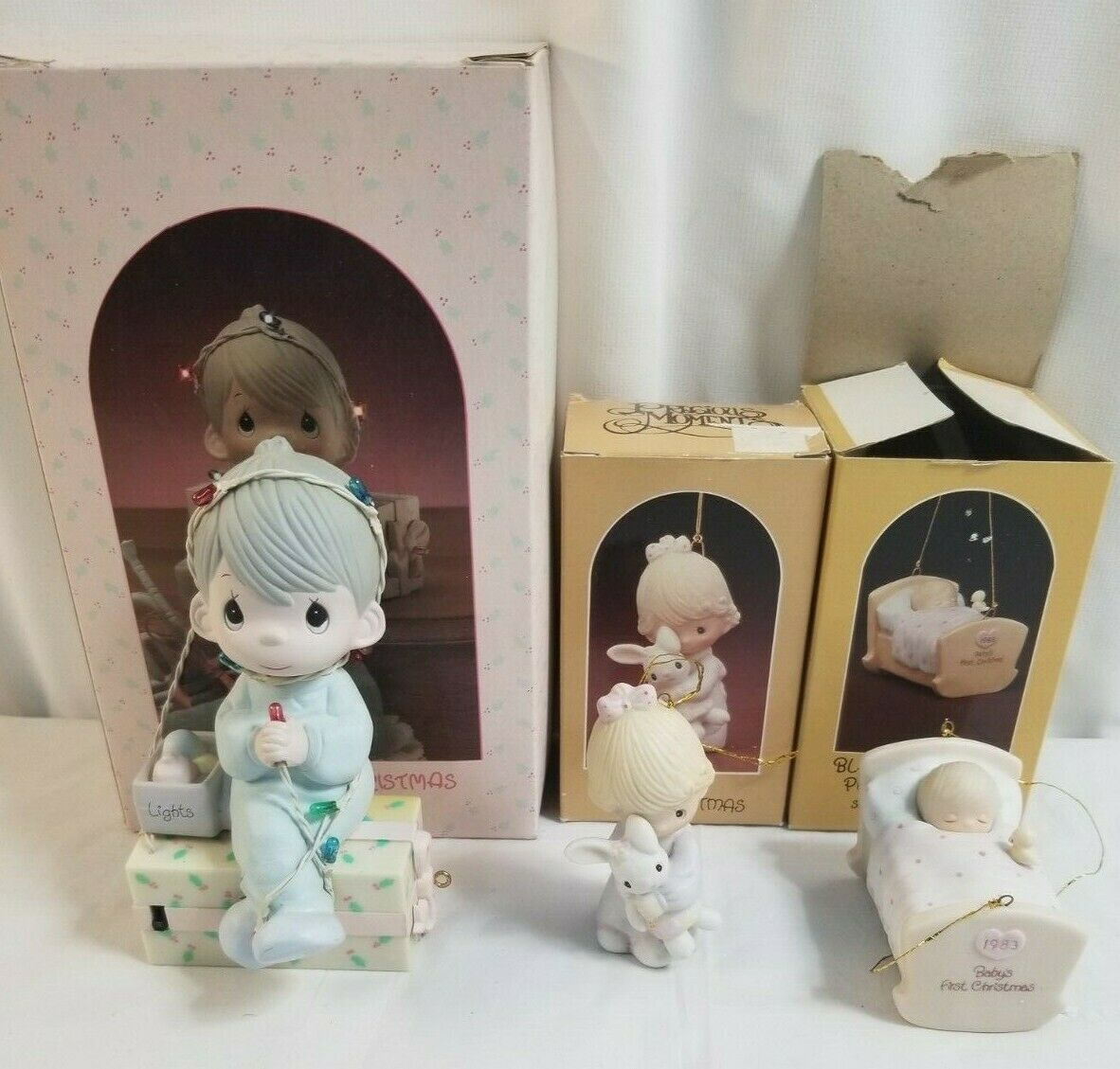 Primary image for 1980,1983, & 1987 PRECIOUS MOMENTS Lot of 3 Members Only Figurines PM Lot 21