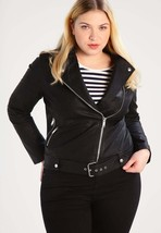 New Women's  Genuine Soft Lambskin Leather Fit Motorcycle  Biker Jacket -31