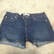 Levi's stretch frayed hem Shorts Women's sz 12 new nwt denim jean - $22.09