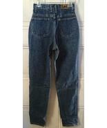 Vintage Lee Stone Wash Blue Cotton Denim High Waist Mom Jeans 25x31 - $29.95