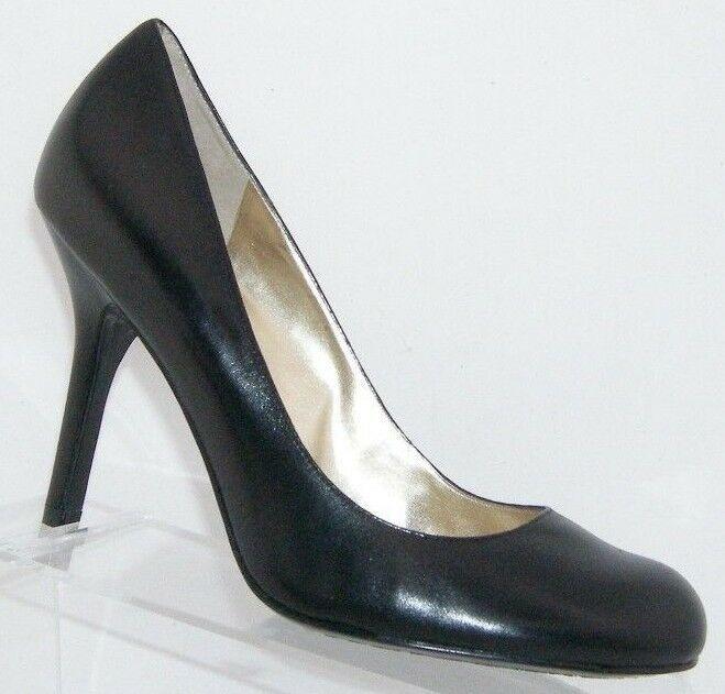 Jessica Simpson 'Henri' black leather patent round toe slip on heels 9.5B 6348