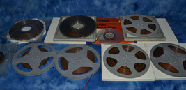 (16) VINTAGE MAGNETIC REEL TO REEL TAPES VARIOUS SIZES RADIO BROADCASTS  - $150.00