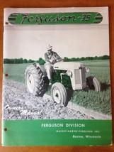 Massey-Ferguson MF Ferguson - 35 Tractor Owner's Operator's Manual 1955 - $19.80