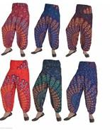 10 Rayon Mandala Boho Harem Balloon Trousers Gypsy Pants Wholesale TR63 - $80.75