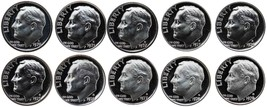 1970-1979 S Complete Set Roosevelt Dimes Gem Proof Run 10 Coins US Mint ... - $15.99
