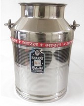 Stainless steel milk oil liquid storage can jug pot for dairy farm 10 li... - $76.00