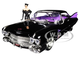 """1959 Cadillac Coupe DeVille Black with Catwoman Diecast Figure """"DC Comic... - $39.99"""