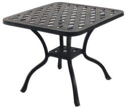 "Patio 21"" Square End Table Nassau set of 4 Cast Aluminum Pool Side Furniture image 2"