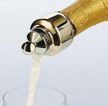 Champagne Auto-Close Pour & Seal Champagne Preserver Stopper Stainless S... - $19.99