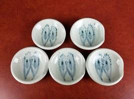 "5 Vintage Wasabi condiment dishes 3"" sushi pottery bowl sauce salt pepper - $11.86"