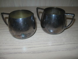 Quadruple Plate Silver Plate Sugar Bowl & Creamer Empire Crafts 1930-1950  - $9.95