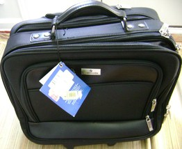 Samsonite Business Case Computer Compatible Softside Wheeled Black Solid New W T - $189.50