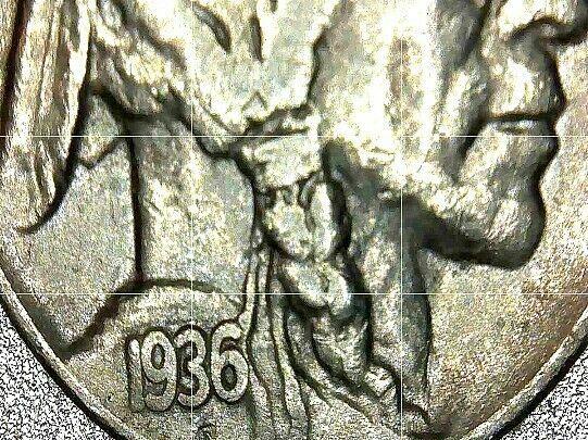Buffalo Nickel 1935, 1936 and 1937  AA20BN-CN6089