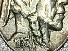 Buffalo Nickel 1935, 1936 and 1937  AA20BN-CN6089