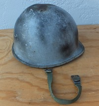 Original Post WWII US Army M1 Helmet  W/ Swivel Bale and Liner chin strap - $83.68