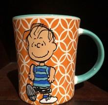 Peanuts Linus Coffee Mug Orange & Teal Interior - $6.93