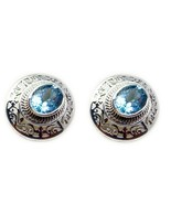 jaipur 925 Sterling Silver fair Natural Blue Earring gift UK - $22.55