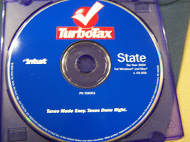 Turbotax tax year 2004  State Intuit  358351 cd - $14.84