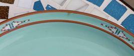 Noritake Stoneware Japan Dinner Plate & Cereal Soup Bowl Boulder Ridge Turquoise image 11