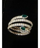 LIQUIDATION!! $130000 RARE 18KT LARGE EMERALD DIAMOND SNAKE SERPENT CUFF... - $59,400.00